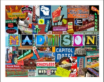 Madison, Wisconsin Collage