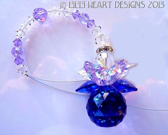 blue and sparkly Suncatcher Purple