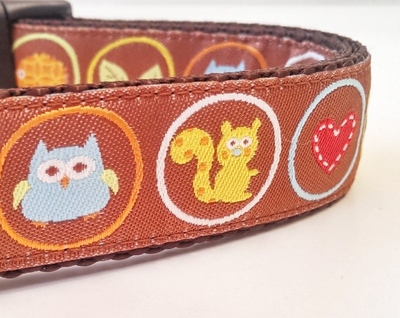 Outdoor Lover - Dog Collar / Handmade / Pet Accessories / Adjustable / Squirrel