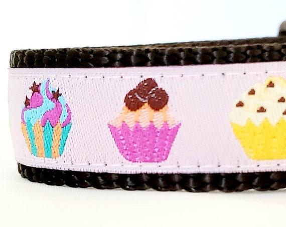 Little Sweetie - Cupcake Dog Collar / Adjustable / Small Dog Collar / Cupcakes / Mini / Dog Collars / Side Buckle / Teacup Dog Collars