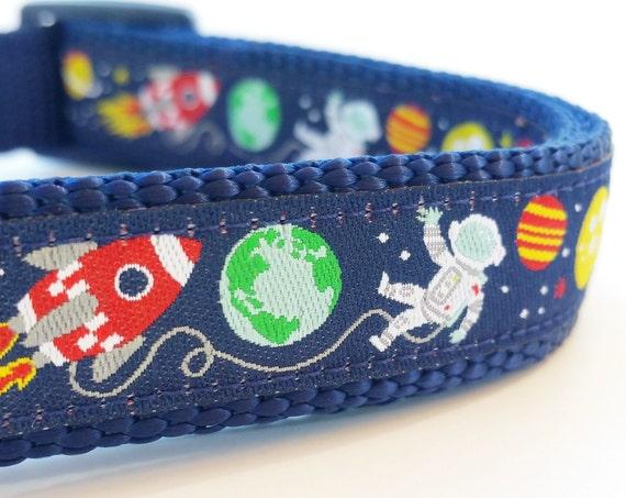 Planet Pup Dog Collar / Adjustable / Rocket / Outer Space / Galaxy / Space Dog Collar / Planet / Small Dog Collar / Large Dog Collar