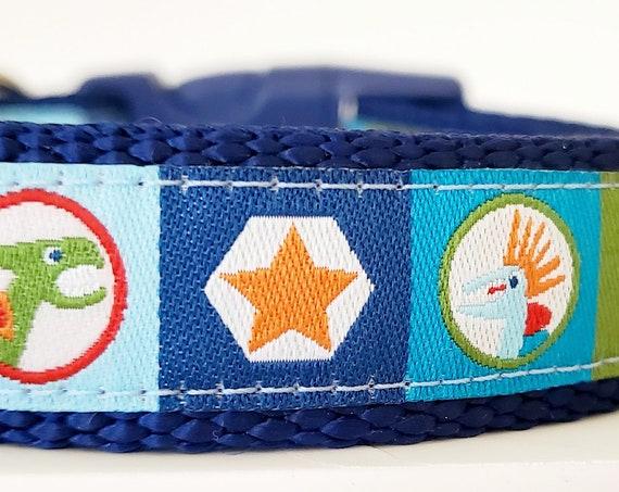 Punk Rock Dino Dog Collar / Handmade / Dinosaur / Dog Collar / Boy Dog Collar / Stars / Skater / Punk Rock / Pet Collars