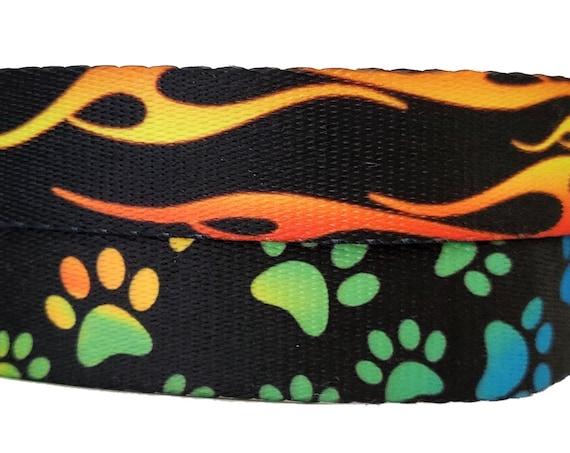 The Classics - Dog Collar / Adjsutable / Large Dog Collar / Small Dog Collar / Flames / Rainbow / Paw Print / Pride / Durable Dog Collar