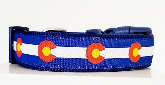 Colorado Flag Dog Collar - Adjustable / Handmade / Pet Accessories / Pet Lover / Gift Idea / Denver