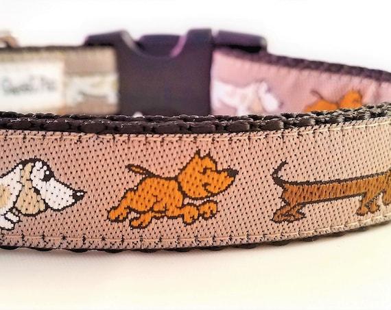 A Nose for Trouble - Dog Collar / Adjustable / Hound Dog / Dachshund / Bloodhound / Terrier / Dog Lover / Nose Work / Beagle / Basset Hound
