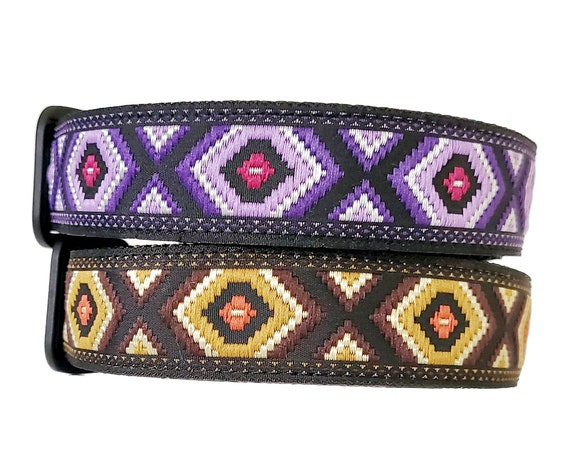The Desert Dog - Dog Collar / Adjustable / Bohemian / Southwestern / Primitive / Nomad / Large Dog Collar / Dog Collar / Boho / Geometic