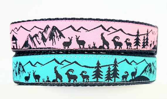 The Mountain Mutt Dog Collar / Adjustable / Large Dog Collar / Small Dog Collar / Hiking / Mountains / 14er / Summit / Outdoors / Dog Collar
