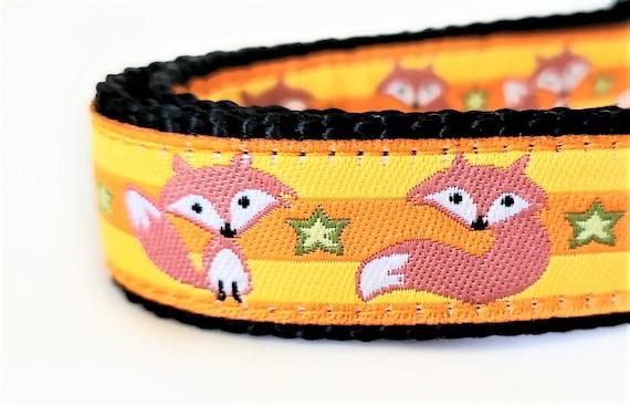 Little Orange Fox Dog Collar / Adjustable / Dog Collars / Small Dog Collar / Teacup Dog Collar / Fox / Woodland / Fox Dog Collar