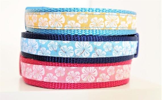 Little Hibiscus Dog Collar / Aloha / Small Dog Collar / Adjustable / Dog Collars / Flowers / Tropical / Teacup Dog Collar