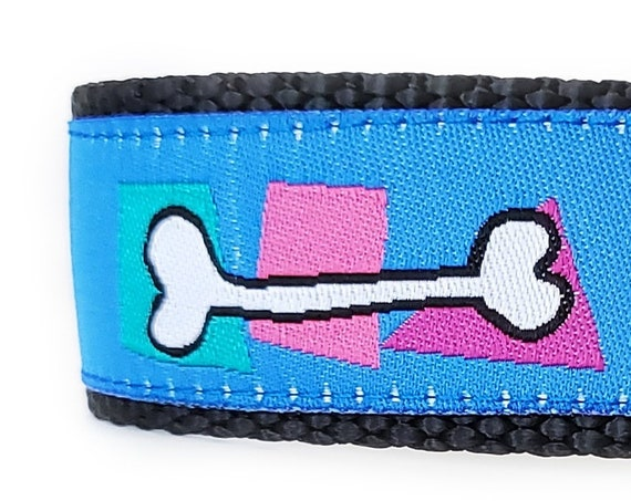 Can You Dig It? Dog Collar / Adjustable / Dog Bone / Modern Dog Collar / Large Dog Collar / Purple / Bones / Dig / Dog Collars / Abstract
