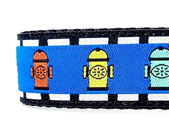 Fire Hydrants Dog Collar / Adjustable / Fireman / Dog Collars / Large Dog Collars / Funny Dog Collar / Fire Hydrant / Big Dog Collar