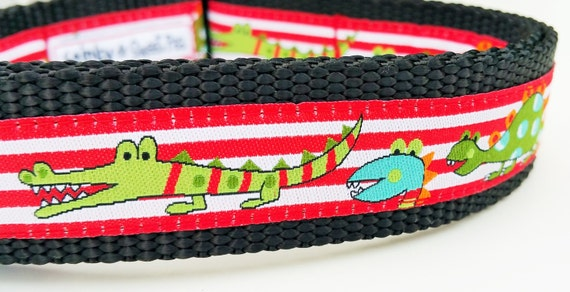 Monsters - Dog Collar / Adjustable / Handmade / Pet Accessories / Dinosaurs / Gift Idea