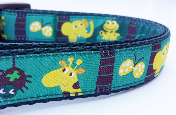 Wild Puppy - Dog Collar / Pet Accessories / Handmade / Adjustable / Monkeys / Pet Lover