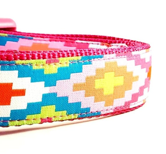 The Nomadic Pup - Dog Collar / Adjustable / Dog Collar / Large Dog Collar / Bohemian / Geometric / Tribal / Dog Collar / Nomad / Southwest