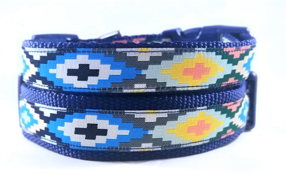 Southwest Puppy Dog Collar / Adjustable / Tribal / Geometric / Bohemian / Dog Collar / Small Dog Collar / Large Dog Collar / Nomad / Native