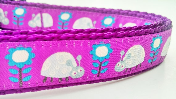 Springtime Bugs - Dog Collar / Handmade / Pet Accessory / Adjustable