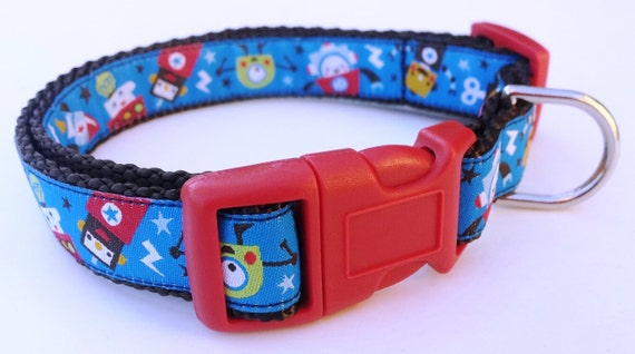 RoboDog - Dog Collar / Pet Accessories / Adjustable / Handmade