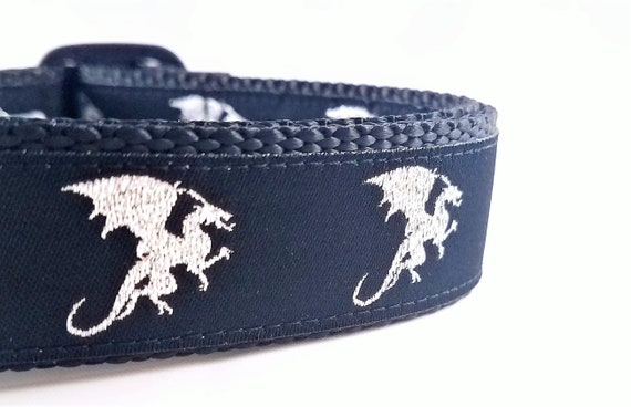 Dragon Dog - Dog Collar / Adjustable / Dog Collar / Large Dog Collar / Dragon / Mythical / Fantasy / Pet Collar / Dragon Dog Collar