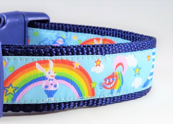 Alice Dog Collar / Adjustable / rainbow  / cats / rabbits / Alice / drink me / dog collars / fantasy / magical