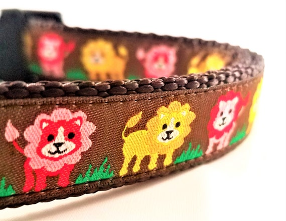 Little Lions - Dog Collar / Adjustable / Dog Collars / Small Dog Collar / Large Dog Collar / Lions / Pride / Fierce / Dog Lover / Gift Idea