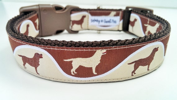 The Giddy Golden - Dog Collar / Handmade / Adjustable / Pet Accessories / Golden Retriever / Labrador