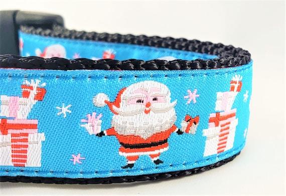 Santa Claus Dog Collar - Adjustable, Handmade, Large Dog Collar, Santapaws, Holidays, Christmas, Good Dog, Naughty Dog, Gift idea