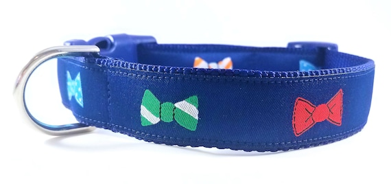 The Dapper Dog - Dog Collar / Adjustable / Bow Ties / Hipster / Bow Tie Dog Collar / Large Dog Collar / Dog Lover / Gift Idea