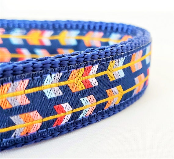 Arrow Feathers Dog Collar - Adjustable / Boho / Small Dog Collar / Large Dog Collar / Dog Collars / Dog Collar / Arrows / Tribal / Geometric