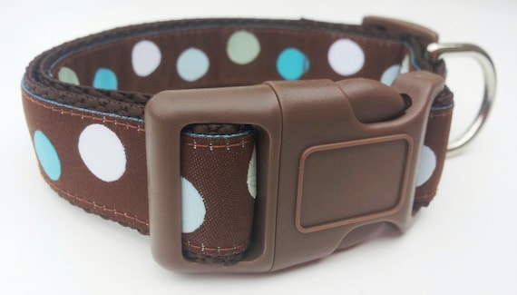 Mod Livin - Dog Collar / Adjustable / Handmade / Pet Accessories / Dots