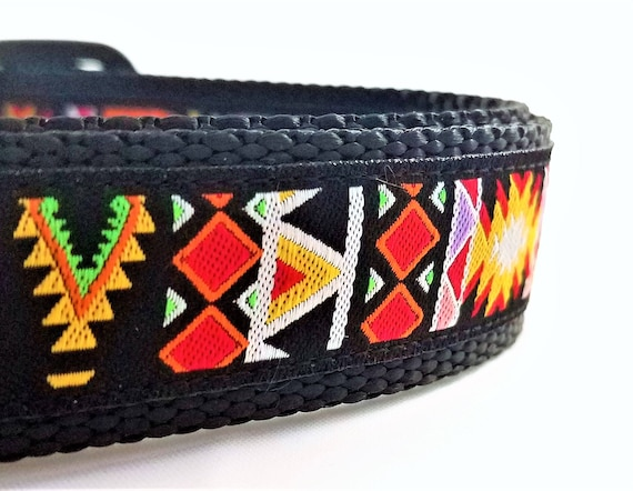 The Aztec Dog Collar / Adjustable / Geometric / modern / Maya / Xolo / Boho / Bohemian / Large Dog Collar / Dog Collars / Nomad / Primitive