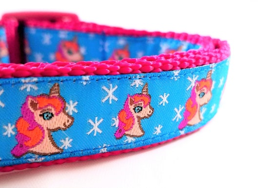 Magical Unicorn Dog Collar / Handmade / Adjustable / Small dog collar / Large dog collar / Unicorns / Stars / Magic