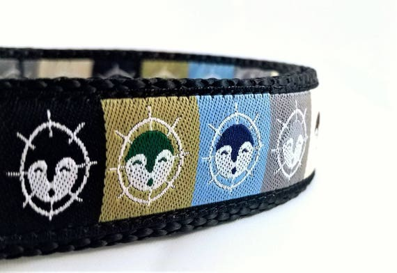 Alaskan Dog - Dog Collar / Adjustable / Large Dog Collar / Husky / Alaskan Malamute / Moon Mask / Alaska / Dog Collars