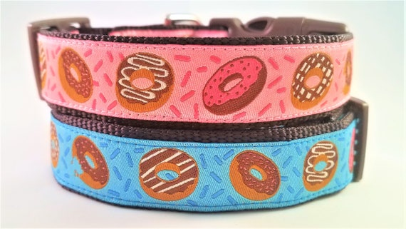 Donuts Dog Collar / Handmade / Pet Accessories / Adjustable / Nom Nom Nom / Large Dog Collar / Sweets / Pet Lover / Gift Idea