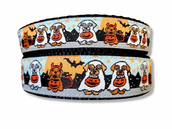 Trick or Treat Dog Collar / Adjustable / Halloween / Small Dog Collar / Large Dog Collar / Spooky / Costume / Trick or Treat