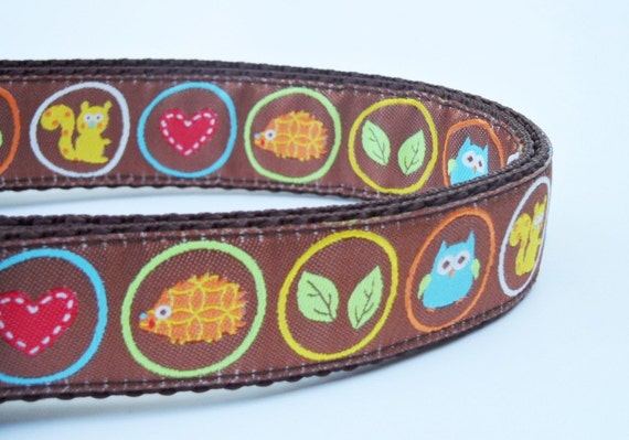 Outdoor Lover Dog Collar / Pet Accessories / Handmade / Adjustable / Hedgehog / Large Dog Collar / Squirrel / Cute Dog Collar