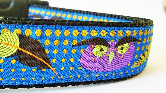 The Modern Owl Dog Collar / Handmade / Adjustable / Pet Accessories / Pet Lover / Gift Idea
