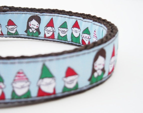 Know Your Gnome - Dog Collar / Pet Accessories / Handmade / Adjustable / Elf / Christmas