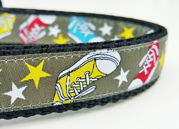 Jogging Buddy - Dog Collar / Handmade / Adjustable / Pet Accessories / Converse / Chucks