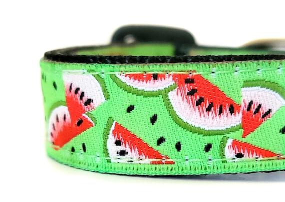 Little Slice of Sweetness Dog Collar / Adjustable / Small Dog Collar / Teacup / Mini / Watermelon / Toy Dog Collars / Dog Collars