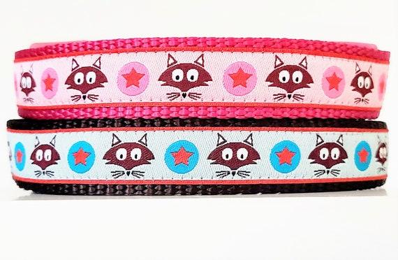 Star Fox Dog Collar / Adjustable / Small Dog Collar / Large Dog Collar / Fox Dog Collar / Stars / Foxes / Pet Collars