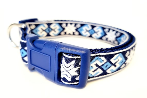 Nordic - Dog Collar / Adjustable / Winter / Dog Collars / Nomad / Geometric / Holiday / Ethnic / Small Dog Collars