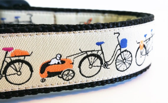 Traveling Companion - Dog Collar / Handmade / Adjustable / Pet Accessories / Bike / Tagalong / Bicycles