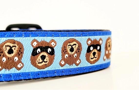 Tiny Teddy Dog Collar / Adjustable / Small Dog Collar / Teacup / Tiny Dog Collar / Bear / Bandit / Teddy Bear / Dog Collars