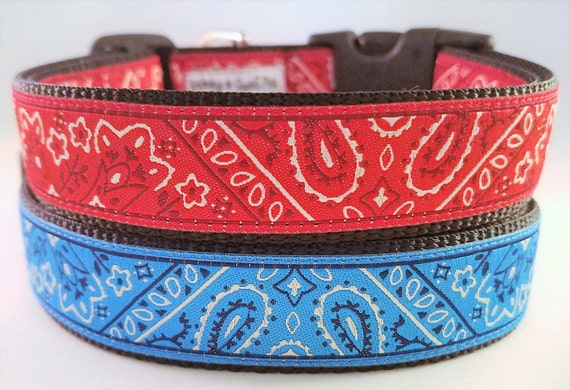 Bandana - Dog Collar / Handmade / Adjustable / Dog collars / Large Dog Collar / Gift Idea / Pet Lover / Martingale