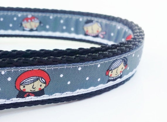 Snow Day - Dog Collar / Adjustable / Handmade / Pet Accessories