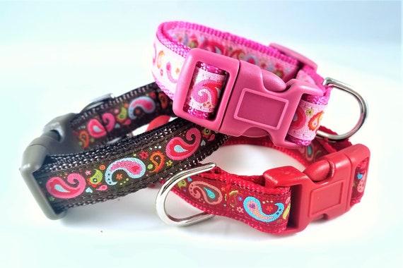 Paisley Puppy - Dog Collar / Teacup Collar / Small Dog Collar / Mini Dog Collar / Paisley / Girl Dog Collar / Boy Dog Collar / Dog Lover