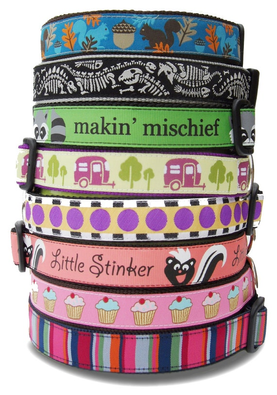 "LUCKY PUP DEAL - 1"" Wide Collars / Handmade / Pet Accessories / Dog Collars / Pet Lover / Gift Idea / Large Dog / Adjustable"