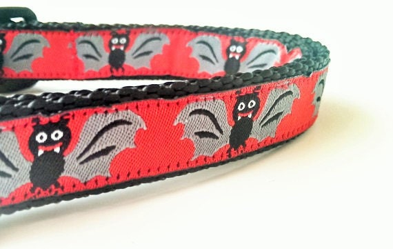 Bat Sh*t Dog - Dog Collar / Pet Accessories / Handmade / Adjustable / Halloween / Halloween Dog Collar