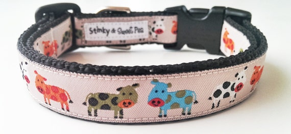 Holy Cow Dog Collar / Adjustable / Pet Accessories / Pet Lover / Dog Collar / Cow Dog Collar / Small Dog Collar / Large Dog Collar