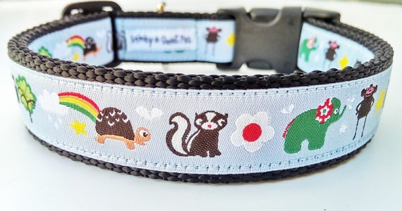 Happy Friends - Dog Collar / Adjustable / Handmade / Pet Accessories / Pet Lover / Gift Idea